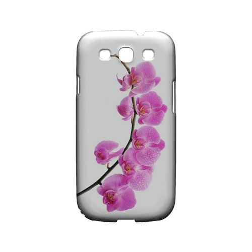 Hot Pink Orchid Curved Branch - Geeks Designer Line Floral Series Matte Case for Samsung Galaxy S3