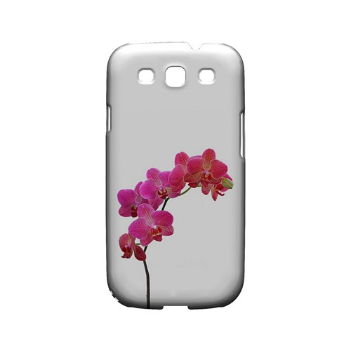 Hot Pink Orchid Branch - Geeks Designer Line Floral Series Matte Case for Samsung Galaxy S3