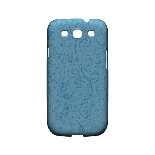 Floral 1 Dusk Blue - Geeks Designer Line Pantone Color Series Matte Case for Samsung Galaxy S3