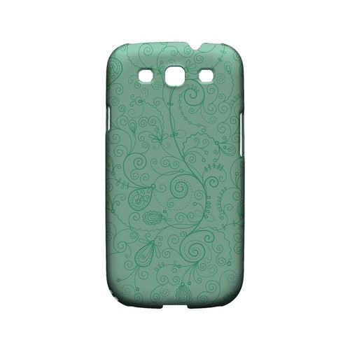 Floral 1 Grayed Jade - Geeks Designer Line Pantone Color Series Matte Case for Samsung Galaxy S3