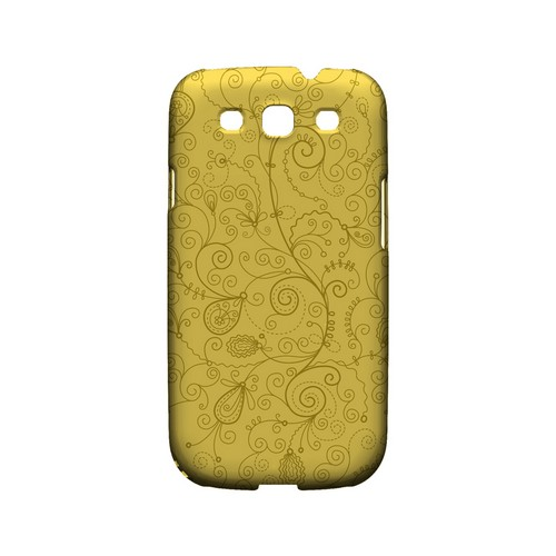 Floral 1 Lemon Zest - Geeks Designer Line Pantone Color Series Matte Case for Samsung Galaxy S3
