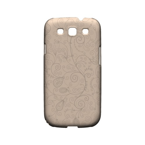 Floral 1 Linen - Geeks Designer Line Pantone Color Series Matte Case for Samsung Galaxy S3