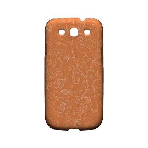 Floral 1 Nectarine - Geeks Designer Line Pantone Color Series Matte Case for Samsung Galaxy S3