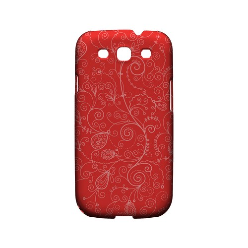 Floral 1 Poppy Red - Geeks Designer Line Pantone Color Series Matte Case for Samsung Galaxy S3