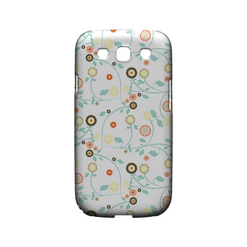 Floral 2 Multi-colored - Geeks Designer Line Pantone Color Series Matte Case for Samsung Galaxy S3