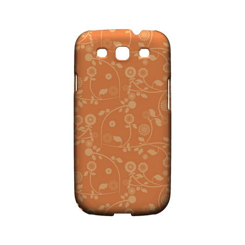 Floral 2 Nectarine - Geeks Designer Line Pantone Color Series Matte Case for Samsung Galaxy S3