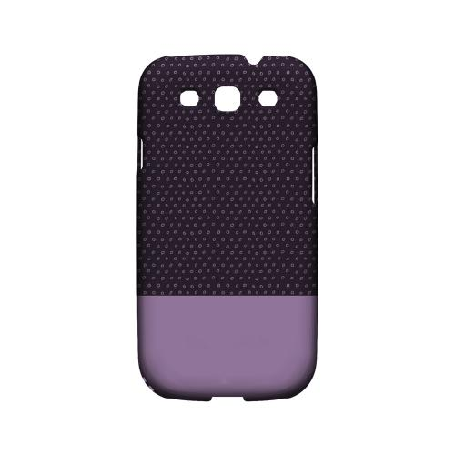 Little Circle Dots African Violet - Geeks Designer Line Pantone Color Series Matte Case for Samsung Galaxy S3
