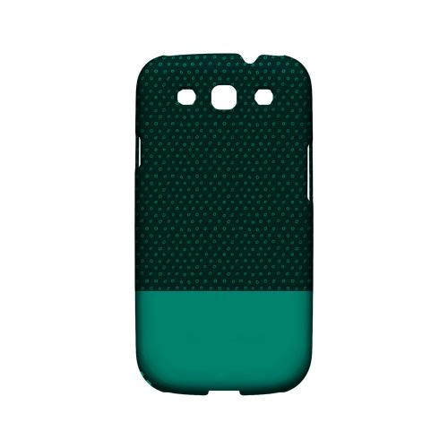 Little Circle Dots Emerald - Geeks Designer Line Pantone Color Series Matte Case for Samsung Galaxy S3