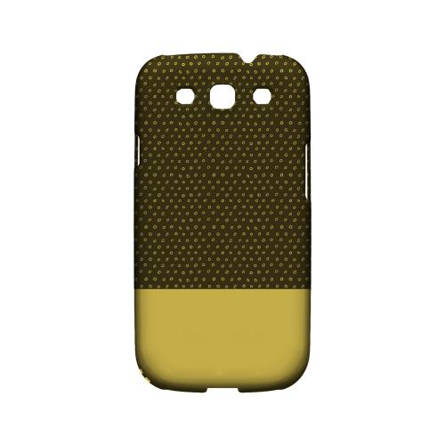 Little Circle Dots Lemon Zest - Geeks Designer Line Pantone Color Series Matte Case for Samsung Galaxy S3