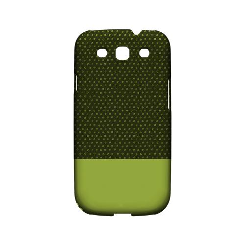 Little Circle Dots Tender Shoots - Geeks Designer Line Pantone Color Series Matte Case for Samsung Galaxy S3