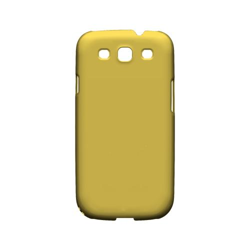 S13 Pantone Lemon Zest - Geeks Designer Line Pantone Color Series Matte Case for Samsung Galaxy S3