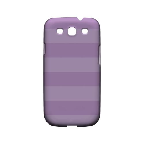 Stripes African Violet - Geeks Designer Line Pantone Color Series Matte Case for Samsung Galaxy S3