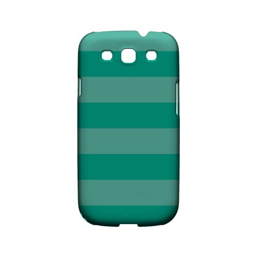 Stripes Emerald - Geeks Designer Line Pantone Color Series Matte Case for Samsung Galaxy S3