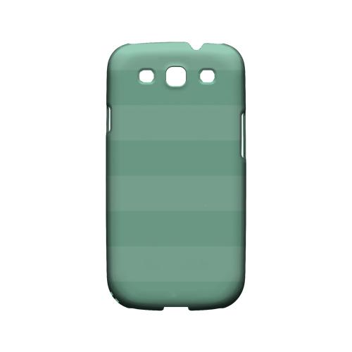 Stripes Grayed Jade - Geeks Designer Line Pantone Color Series Matte Case for Samsung Galaxy S3