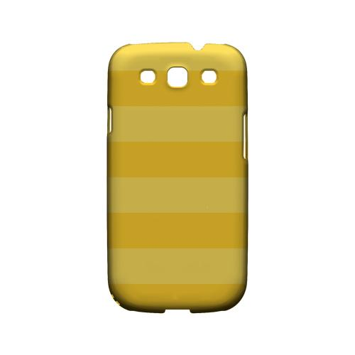 Stripes Lemon Zest - Geeks Designer Line Pantone Color Series Matte Case for Samsung Galaxy S3