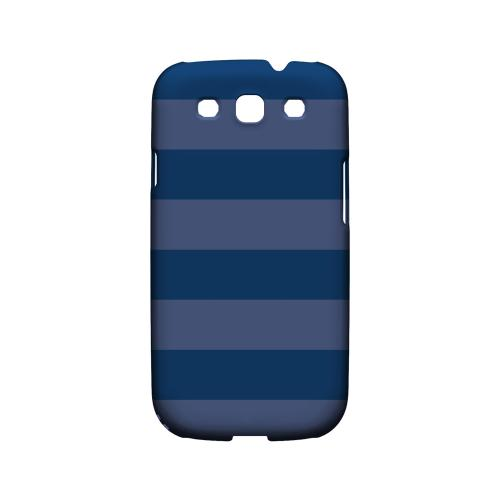Stripes Monaco Blue - Geeks Designer Line Pantone Color Series Matte Case for Samsung Galaxy S3