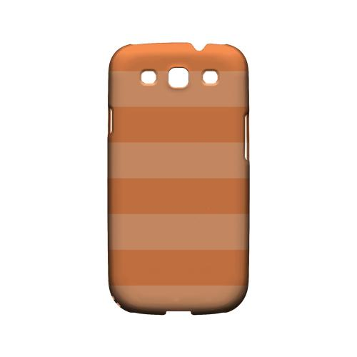 Stripes Nectarine - Geeks Designer Line Pantone Color Series Matte Case for Samsung Galaxy S3