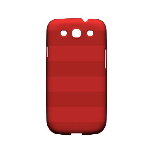 Stripes Poppy Red - Geeks Designer Line Pantone Color Series Matte Case for Samsung Galaxy S3