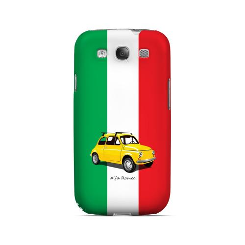 Yellow Alfa Romeo on Green/ White/ Red - Geeks Designer Line Auto Series Matte Case for Samsung Galaxy S3