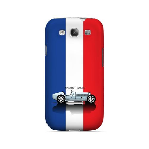 Bugatti Type 35S on Blue/ White/ Red - Geeks Designer Line Auto Series Matte Case for Samsung Galaxy S3