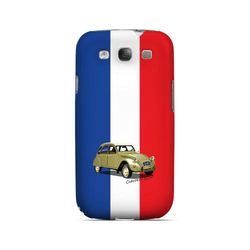Citroen 2CV on Blue/ White/ Red - Geeks Designer Line Auto Series Matte Case for Samsung Galaxy S3