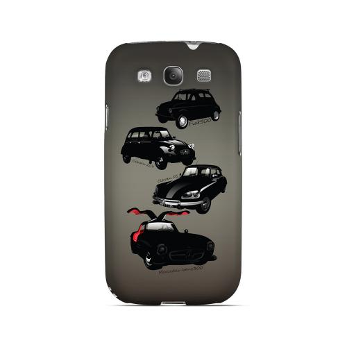 Classic Euro Cars Fade - Geeks Designer Line Auto Series Matte Case for Samsung Galaxy S3