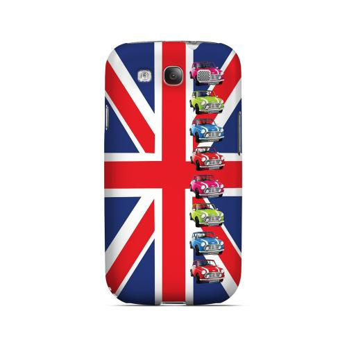 Multi Mini Coopers on Union Jack - Geeks Designer Line Auto Series Matte Case for Samsung Galaxy S3