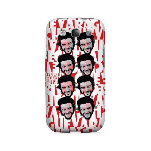 Che Guevara Happy Revolutionary Multi-Face on Red - Geeks Designer Line Revolutionary Series Matte Case for Samsung Galaxy S3