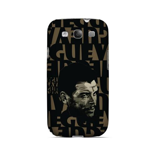 Che Guevara Serious Man on Brown - Geeks Designer Line Revolutionary Series Matte Case for Samsung Galaxy S3