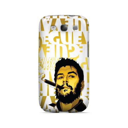 Che Guevara Smoke White Letters on Gold - Geeks Designer Line Revolutionary Series Matte Case for Samsung Galaxy S3