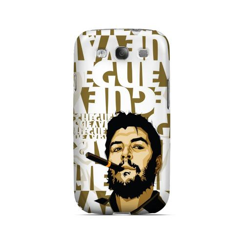 Che Guevara Smoke White Letters - Geeks Designer Line Revolutionary Series Matte Case for Samsung Galaxy S3