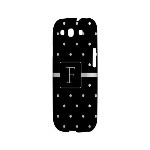 F on Classic Mini Polka Dots - Geeks Designer Line Monogram Series Matte Case for Samsung Galaxy S3
