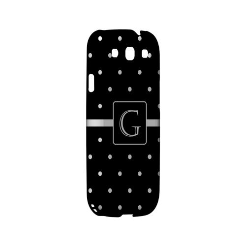 G on Classic Mini Polka Dots - Geeks Designer Line Monogram Series Matte Case for Samsung Galaxy S3