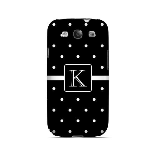 K on Classic Mini Polka Dots - Geeks Designer Line Monogram Series Matte Case for Samsung Galaxy S3