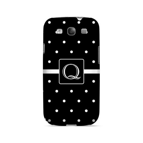 Q on Classic Mini Polka Dots - Geeks Designer Line Monogram Series Matte Case for Samsung Galaxy S3