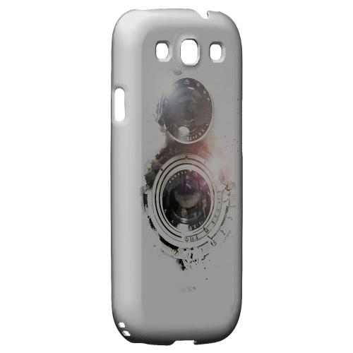 Geeks Designer Line (GDL) Retro Series Samsung Galaxy S3 Matte Hard Back Cover - White Lens Flare