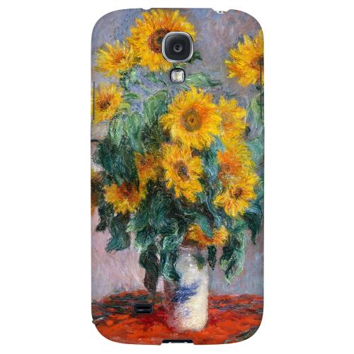 Claude Monet Bouquet of Sunflowers - Geeks Designer Line Artist Series Hard Back Case for Samsung Galaxy S4