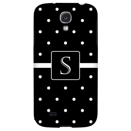 Monogram S on Classic Mini Polka Dots - Geeks Designer Line Monogram Series Hard Back Case for Samsung Galaxy S4