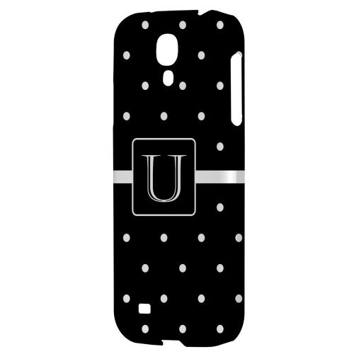 Monogram U on Classic Mini Polka Dots - Geeks Designer Line Monogram Series Hard Back Case for Samsung Galaxy S4