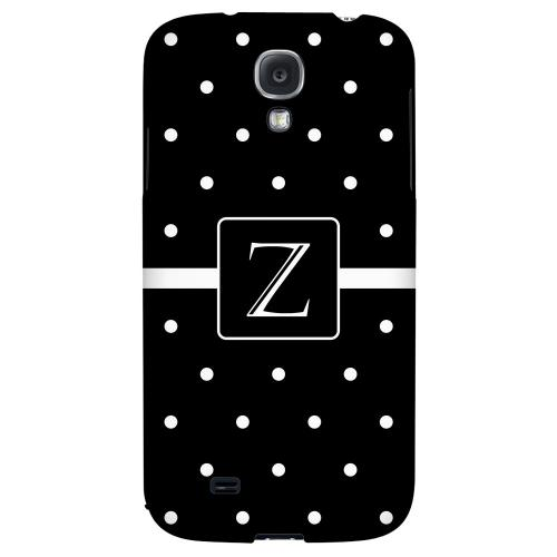 Monogram Z on Classic Mini Polka Dots - Geeks Designer Line Monogram Series Hard Back Case for Samsung Galaxy S4
