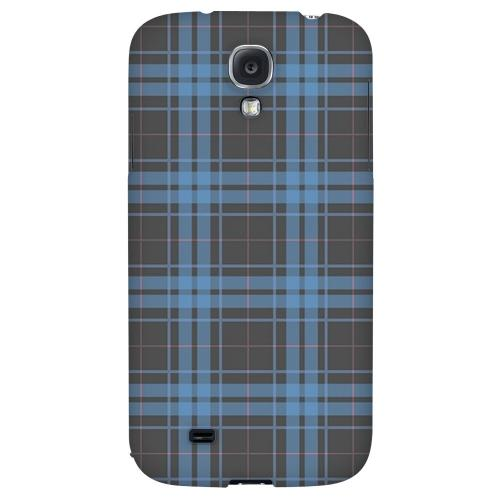 Blue/ Gray/ Pink Plaid - Geeks Designer Line Checker Series Hard Back Case for Samsung Galaxy S4