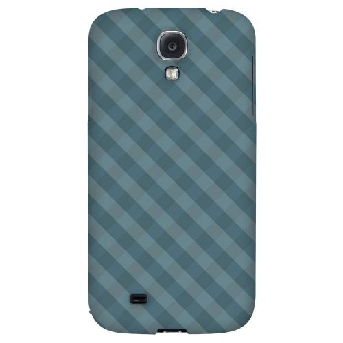 Blue/ Green/ White/ Gray Plaid - Geeks Designer Line Checker Series Hard Back Case for Samsung Galaxy S4