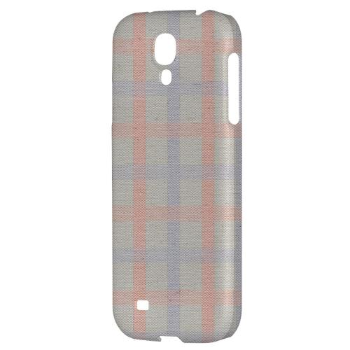 Faint Red/ Blue/ Gray Plaid - Geeks Designer Line Checker Series Hard Back Case for Samsung Galaxy S4