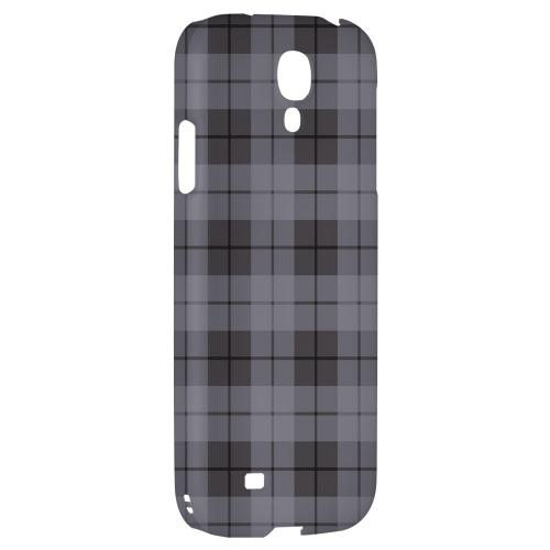 Grayish Plaid - Geeks Designer Line Checker Series Hard Back Case for Samsung Galaxy S4