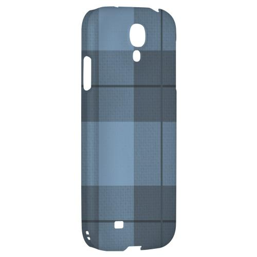 Off-Centered Zoom Blue Plaid - Geeks Designer Line Checker Series Hard Back Case for Samsung Galaxy S4