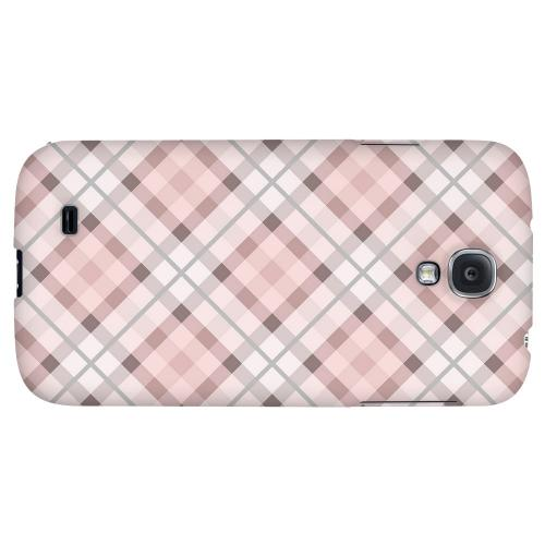 Pink/ Gray Plaid - Geeks Designer Line Checker Series Hard Back Case for Samsung Galaxy S4