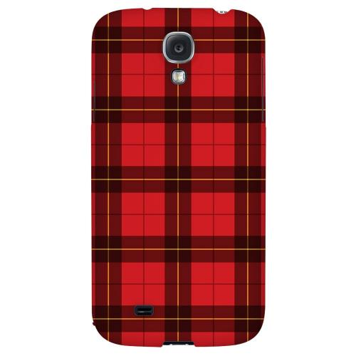 Scottish-Like Plaid in Red - Geeks Designer Line Checker Series Hard Back Case for Samsung Galaxy S4