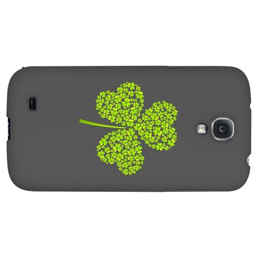 Clover Burst - Geeks Designer Line Holiday Series Hard Back Case for Samsung Galaxy S4