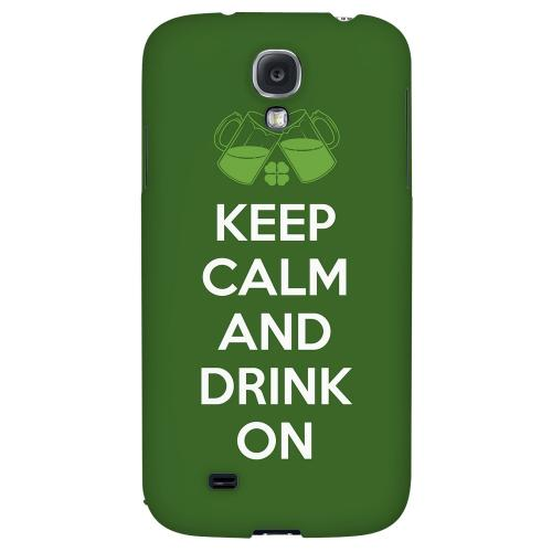 Drink On - Geeks Designer Line Holiday Series Hard Back Case for Samsung Galaxy S4