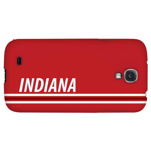 Indiana - Geeks Designer Line March Madness 2012 Series Hard Back Case for Samsung Galaxy S4